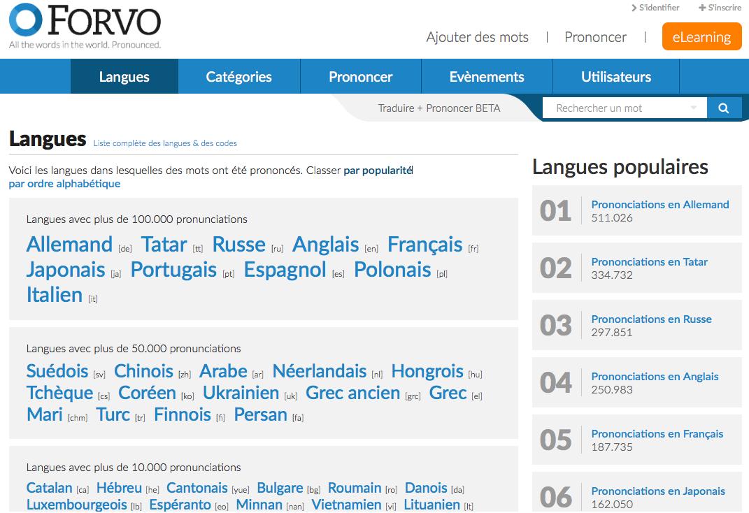 forvo-langues