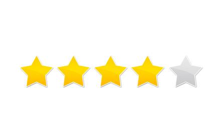 évaluation avis - quatre étoiles