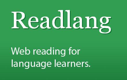 Readlang, le lecteur deweb